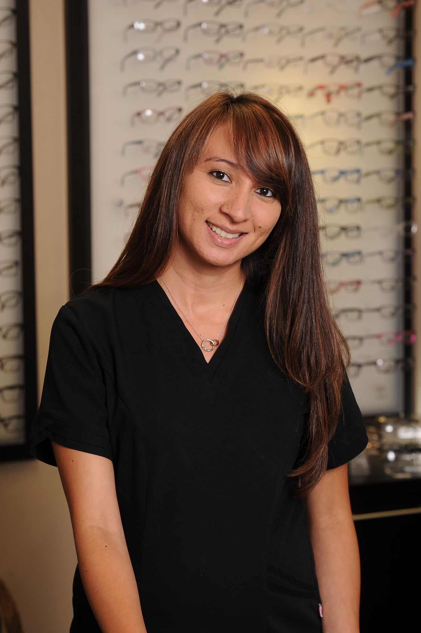 Hi my name is Alyssa….I can help you select the perfect pair of glasses at the time of your appointment.   My job is to educate our patients on all of the up to date lens technologies to help make the right choices for both work and play.  I call it lifestyle dispensing….  Whether they're your first pair or you've worn glasses most of your life, I will personally assure you the ones we order will fit and look perfect!
